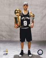 Tony Parker - 2007 Finals With / 2 Trophies (#16) Fine Art Print