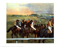 "Racehorses by Edgar Degas - 28"" x 22"""