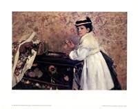 Portrait of Mademoiselle Hortense Valpin Fine Art Print