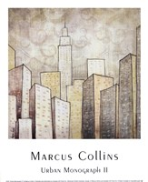 """Urban Monograph II by Marcus Collins - 10"""" x 12"""""""