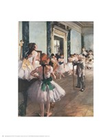 The Dance Class Fine Art Print
