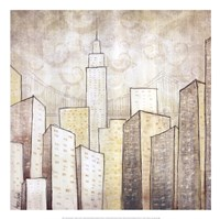 "Urban Monograph II by Marcus Collins - 20"" x 20"""