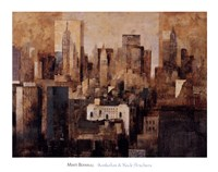 Manhattan & Black Structures Fine Art Print