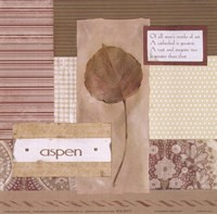 "Scrapboot Aspen Leaf by Carol Robinson - 6"" x 6"""