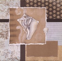 "Shell Collage III by Carol Robinson - 6"" x 6"""