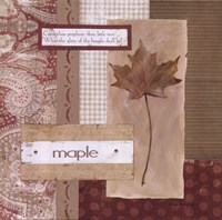 Scrapbook Maple Leaf Fine Art Print