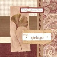 Scrapbook Gingko Leaf Fine Art Print