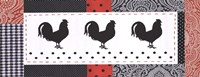 "20"" x 8"" Rooster Pictures"
