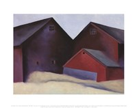 Ends of Barns, 1922 Fine Art Print