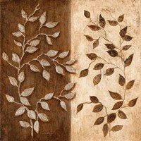 "Russet Leaf Garland I by Janet Tava - 12"" x 12"", FulcrumGallery.com brand"