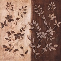 "Russet Leaf Garland II by Janet Tava - 12"" x 12"", FulcrumGallery.com brand"