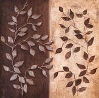 Russet Leaf Garland I Fine Art Print