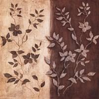 Russet Leaf Garland II Framed Print