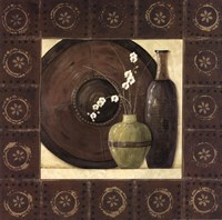 """Asian Still Life With Border II by Jo Moulton - 12"""" x 12"""""""