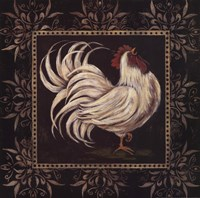 Black & White Rooster I Fine Art Print