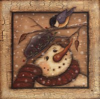 Snowman I Framed Print