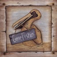 """Gone Fishin' by Kim Lewis - 12"""" x 12"""""""