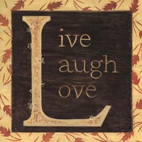 Live Laugh Love - Border Fine Art Print