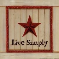 "Live Simply by Karen Tribett - 10"" x 10"""