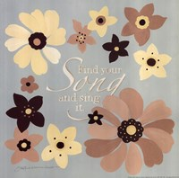 """Find Your Song by Stephanie Marrott - 12"""" x 12"""" - $9.99"""