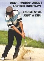 Birthday Kid Golf Greeting Card