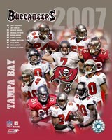 2007 - Buccaneers Team Composite Fine Art Print