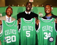 Ray Allen, Kevin Garnett and Paul Pierce 2007 Press Conference Fine Art Print