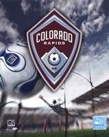 """Colorado Rapids Team Logo (2007) by Ahava - 8"""" x 10"""", FulcrumGallery.com brand"""