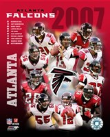 2007 - Falcons Team Composite Fine Art Print