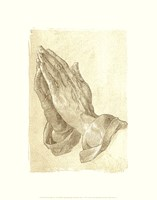 Praying Hands, c.1508 (sepia) Fine Art Print