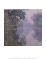 "The Seine at Giverny, Morning Mists, 1897 by Claude Monet, 1897 - 11"" x 14"""