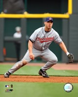 Travis Hafner - 2007 Fielding Action Fine Art Print
