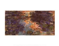 "The Water Lily Pond - close up, 1918 by Claude Monet, 1918 - 14"" x 11"""