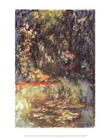 The Water Lily Pond, 1918 Fine Art Print