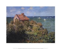 Fisherman's Cottage on the Cliffs at Varengeville, 1882 Fine Art Print