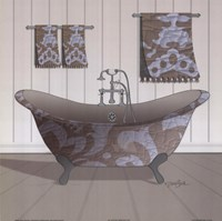 Damask Tub I Fine Art Print