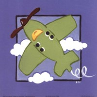 "Kiddie Plane by Lynn Metcalf - 8"" x 8"""