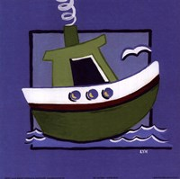 Kiddie Boat Framed Print