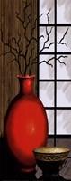 Asian Red I Panel Fine Art Print