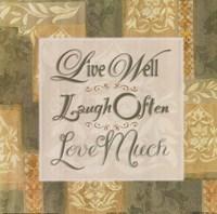 Live Well … Fine Art Print