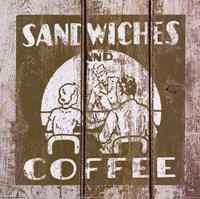 Sandwich and Coffee Fine Art Print