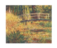 "Water Lily Pond - Pink Harmony by Claude Monet - 34"" x 28"""