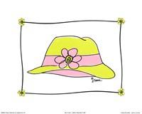 Daisy Delight Hat Fine Art Print