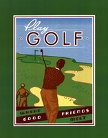 Play Golf Framed Print