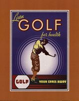 Golf For Health Fine Art Print