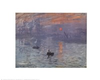 Impression, Sunrise, c.1872 (blue) Fine Art Print