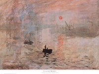"Impression, Sunrise (green), 1872 by Claude Monet, 1872 - 32"" x 24"""