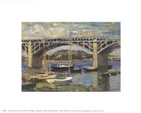 Bridge at Argenteuil (bridge center) Fine Art Print