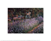 "The Artist's Garden at Giverny, 1900 by Claude Monet, 1900 - 10"" x 8"""