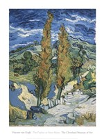 The Poplars at Saint-Rmy, c.1889 Fine Art Print
